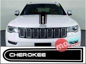 Jeep Cherokee Logolu Otomobil Ön Kaput Şeridi Kaput Sticker