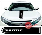 Honda Shuttle Logolu Otomobil Ön Kaput Şeridi...