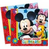 Mickey Mouse Lisanslı Çift Katlı Parti Peçetesi (20 Ad.)