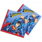 Superman Lisanslı Çift Katlı Parti Peçetesi (16 Ad.)