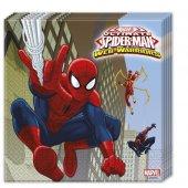 Spiderman Lisanslı Çift Katlı Parti Peçetesi (20 Ad.)