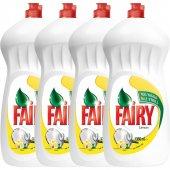 Fairy Sıvı Bulaşık Deterjanı Limon 1350 ml 4'lü