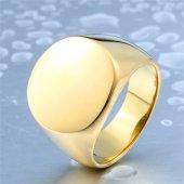 Roundness Gold Titanyum Yüzük