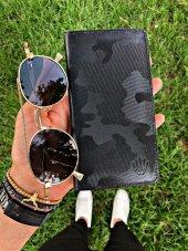 Elegant Camouflage Black Telefon Cüzdanı