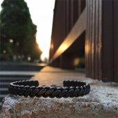Wıre Retro Black Titanium Çelik Bileklik
