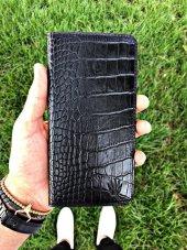 Dıamond Croco Black Telefon Cüzdanı