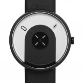 Projects Watches Overlap Black Leather Unisex Kol Saati