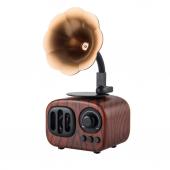 Nostaljik Mini Radyo Gramofon Bluetooth/Radyo/USB/SD Speaker B7