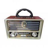 Şarjlı Nostaljik Radyo Meier M-113BT USB/SD/MP3 Bluetooth