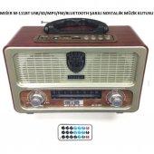 Meier M-111BT Şarjlı Nostaljik Radyo Bluetootlu-Kumandalı USB/SD/