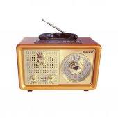 Nostaljik Retro Ahşap Görünüm Bluetooth Radyo Usb Sd Meier 110BT-2