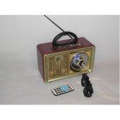 Nostaljik Retro Ahşap Görünüm Bluetooth Radyo Usb Sd Meier 110BT-3