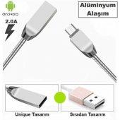 Apple iPhone Ve Android Metal Yaylı Usb Hızlı Şarj Kablosu-4
