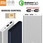 Xiaomi Mi 3.nesil Powerbank 10000 Mah Hızlı Şarj C...