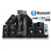 Forland Bluetoothlu 5+1 Dijital Ekran Radyolu Usb Ses Sistemi