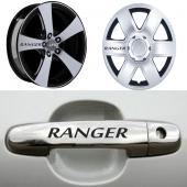 Ford Ranger Kapı Kolu Ve Jantlara 10lu Sticker...