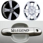 Honda Legend Kapı Kolu Ve Jantlara 10lu Sticker...