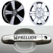 Honda Prelude Kapı Kolu ve Jantlara 10lu Sticker Set