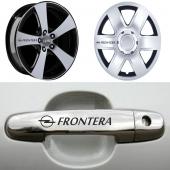 Opel Frontera Kapı Kolu ve Jantlara 10lu Sticker Set