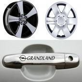 Opel Grandland Kapı Kolu ve Jantlara 10lu Sticker Set