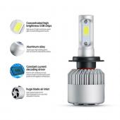 H7 LED Xenon 8000 Lümen 6500K Şimşek EtkiliÜCREDSİZ KARGO-3