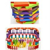 Ahşap Domino Taşları 1000 Parça Renkli Eğitici Domino Oyunu Ahşap domino oyunu Çocuk Ahşap Oyuncak-2