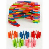 Ahşap Domino Taşları 1000 Parça Renkli Eğitici Domino Oyunu Ahşap domino oyunu Çocuk Ahşap Oyuncak-3