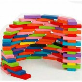 Ahşap Domino Taşları 1000 Parça Renkli Eğitici Domino Oyunu Ahşap domino oyunu Çocuk Ahşap Oyuncak-4