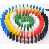 Ahşap Domino Taşları 1000 Parça Renkli Eğitici Domino Oyunu Ahşap domino oyunu Çocuk Ahşap Oyuncak-5