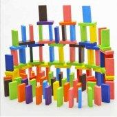 Ahşap Domino Taşları 1000 Parça Renkli Eğitici Domino Oyunu Ahşap domino oyunu Çocuk Ahşap Oyuncak-6