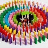 Ahşap Domino Taşları 1000 Parça Renkli Eğitici Domino Oyunu Ahşap domino oyunu Çocuk Ahşap Oyuncak-7