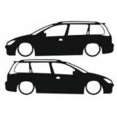 Peugeot 206 Sw Basık Araç Sticker