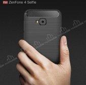Eiroo Asus ZenFone 4 Selfie ZD553KL Ultra Koruma Gri Kılıf-10