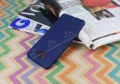 Samsung Galaxy J7 Max Mat Lacivert Silikon Kılıf-3