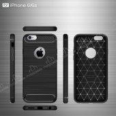 Eiroo Carbon Shield iPhone 6 / 6S Ultra Koruma Dark Silver Kılıf-3