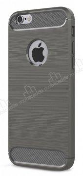 Eiroo Carbon Shield iPhone 6 / 6S Ultra Koruma Dark Silver Kılıf-7