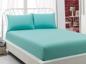 Weekend Home 120x200 Cm Tek Kişilik Lastikli Çarşaf Buz Mavi