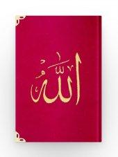 Hafız Boy Kadife Kuran I Kerim (Kırmızı, Nakışlı, Yaldızlı, Mühürlü)