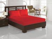 Weekend Home 160x200 cm Çift Kişilik Lastikli Çarşaf Kırmızı