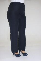 9008 1 Büyük Beden Beli Lastikli Pantolon Lacivert