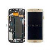 Samsung S7 Edge Gold LCD Servis Ekranı + Kılıf Hediye