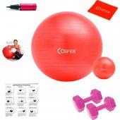 Cosfer 7 Parçalı New Version Kırmızı Pilates Seti