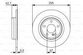 Mercedes Gla 180 Cdı 156 1.5 2014 2015 Bosch Arka Disk 2 Adet