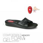 Ceyo 9200 12 Kadın Hafızalı Jel Taban Topuk Dikeni Terlik Siyah