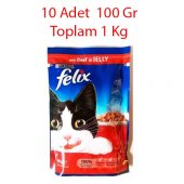 Purina Felix Adult Biftekli Pouch Konserve Kedi Maması 100gr