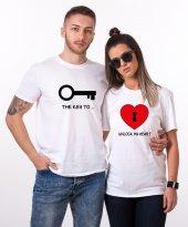 Tshirthane Key Unlock Sevgili Kombini Tişörtleri