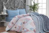 Merinos Fashion Soft Yatak Örtüsü Seti Çift Kişilik Azur Mavi