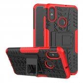 Edelfalke Xiaomi Mi 8 Kılıf Hibrit Silikon Kapak Kırmızı