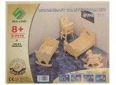 Eğitici Oyuncak Ahşap Ev Mobilya Seti 3 Lü Oyuncak Maket Mobilya-Minyatür Boyanabilir Ev Mobilyaları-3