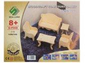 Eğitici Oyuncak Ahşap Ev Mobilya Seti 3 Lü Oyuncak Maket Mobilya-Minyatür Boyanabilir Ev Mobilyaları-4